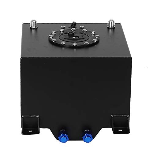 Qiilu 5 Gallon Aluminum Level Racing Sender Drift Fuel Cell Gas Tank