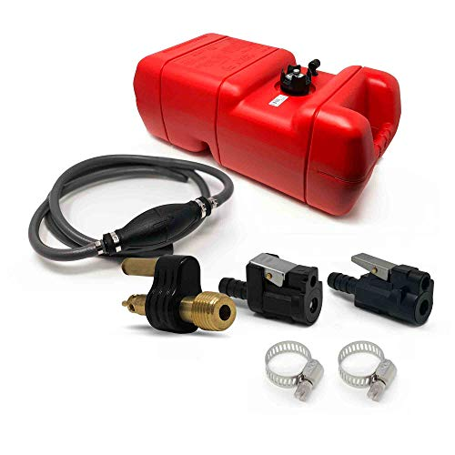 Five Oceans Marine 6 Gallon Fuel Tank/Portable Kit for All Yamaha and Mercury Engines Connection, 3/8 inches Hose FO-3312-C4-2