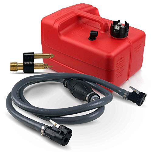 Five Oceans 3 Gallon Fuel Tank/Portable Kit for All Yamaha and Mercury Engines Connection, 3/8 inches Hose FO-4129-C44