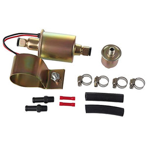 Larbi GA8012S E8012S FD0002 P60430 EP12S High Pressure (5-9PSI)12V Heavy Duty Gas Diesel In-Line In-Tank Electric Fuel Pump With Installation Kit Metal Solid Petro Gasoline or Diesel Engine