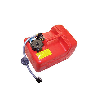 Quicksilver 8M0047598 Portable Marine Boat Fuel Tank with Fuel Demand Valve, 3.2-Gallon Capacity