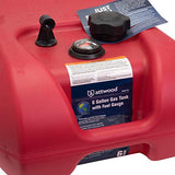 Attwood Corporation 8806LPG2 EPA and CARB Certified 6-Gallon Portable Marine Boat Fuel Tank with Gauge, Red