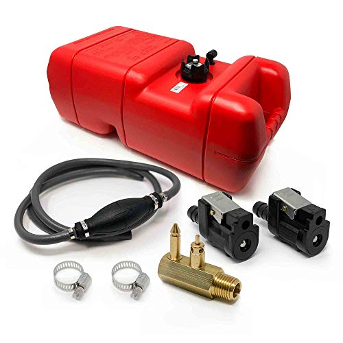 Five Oceans 6 Gallon Fuel Tank/Portable Kit for All Yamaha and Mercury Engines Connection, 3/8 inches Hose FO-3312-C3-1