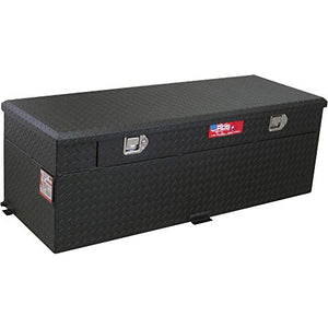 RDS Aluminum Auxiliary Fuel Tank/Toolbox Combo with Fuel Filler Shroud - 60-Gal. Capacity, Black Diamond Plate, Model# 72743P