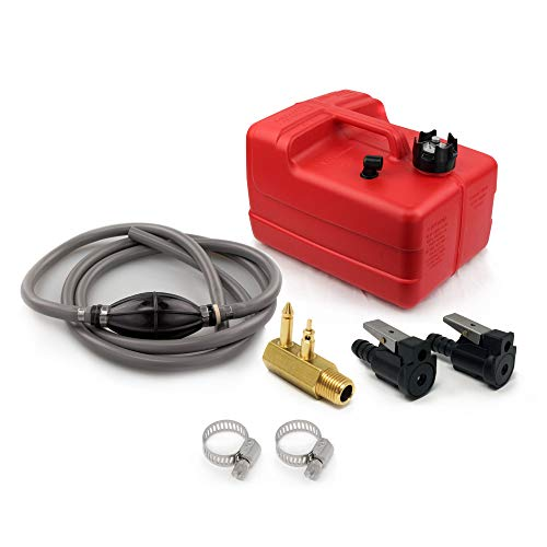 Five Oceans 3 Gallon Marine Portable Fuel Tank Kit (OMC/Evinrude/Johnson) 5/16 inches FO-4129-C2