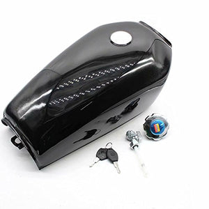 Motorcycle 9L 2.4 GAL Universal Fuel Gas Tank Fit Honda CG125 Cafe Racer 4 Colors