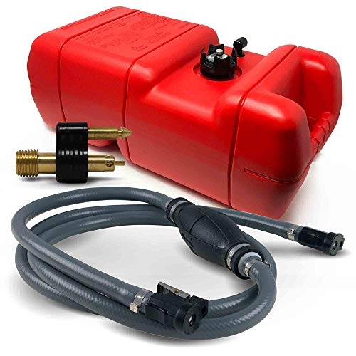Five Oceans 6 Gallon Fuel Tank/Portable Kit for All Yamaha and Mercury Engines Connection, 3/8