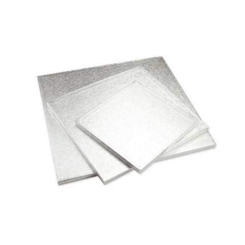 Cake-Masters Cakeboard quadrat 35 cm, Silber, dick - Kuchenwunder-Shop