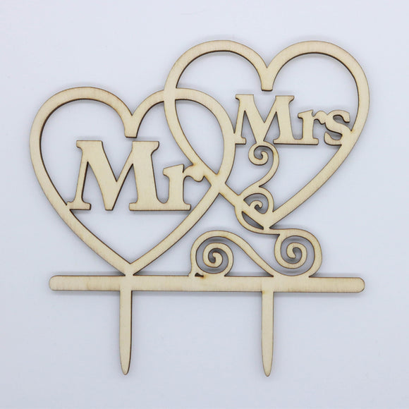 Caketopper MR. AND MRS. HERZEN - Kuchenwunder-Shop