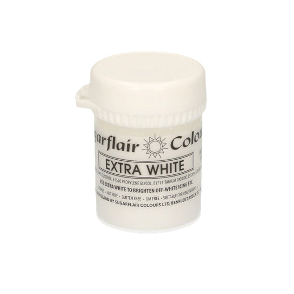 Sugarflair Paste Colour Pastel EXTRA WHITE 50 g