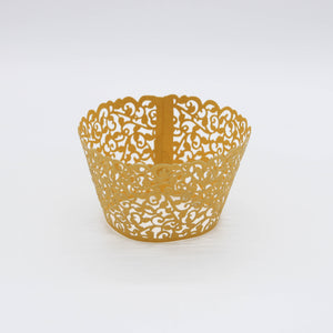 Cupcake Wrappers GOLD 10 Stk. - Kuchenwunder-Shop