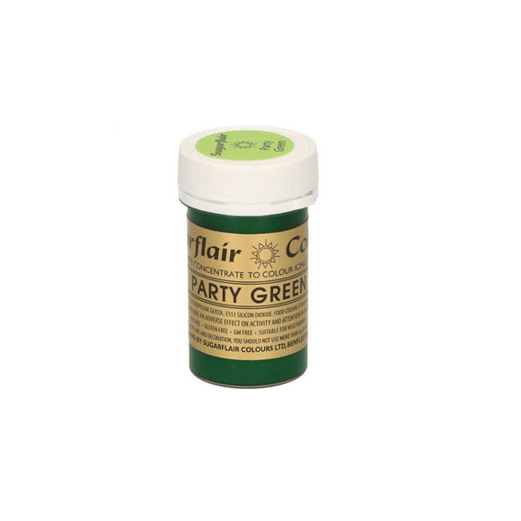 Sugarflair Paste Colour Pastel PARTY GREEN 25 g - Kuchenwunder-Shop
