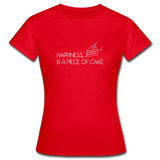 Happiness is a piece of cake - Frauen T-Shirt - Rot