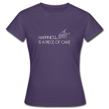 Happiness is a piece of cake - Frauen T-Shirt - Dunkellila