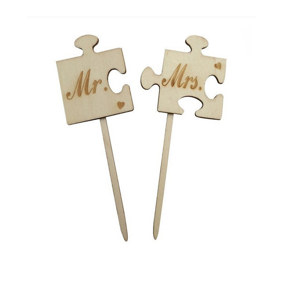 Caketopper Mr. and Mrs. PUZZLETEILE - Kuchenwunder-Shop