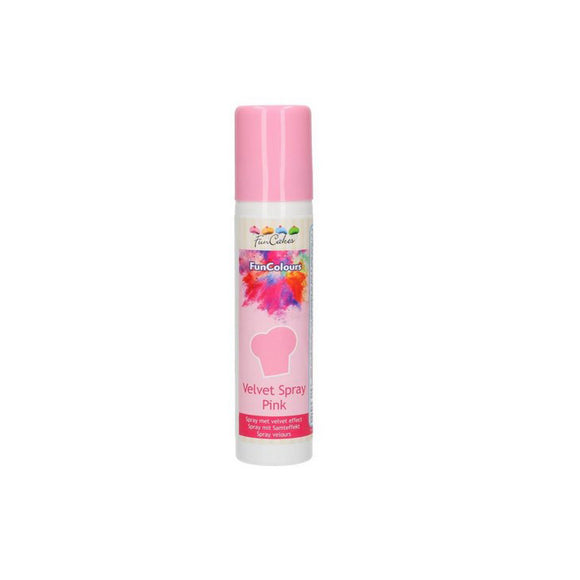 Velvet Spray Pink 100 ml, Funcakes - Kuchenwunder-Shop