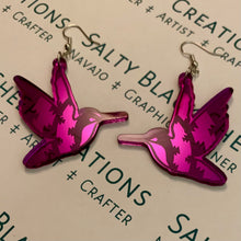 Load image into Gallery viewer, Mirror Hummingbird earrings