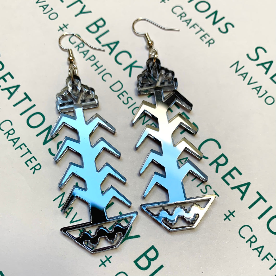 Mirror Tree of Life Earrings