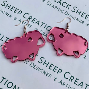 Mirror Sheep Earrings