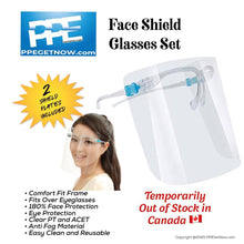 Load image into Gallery viewer, Face Shield & Glasses - Set of 3 (1 frame, 2 shield plates in each set)