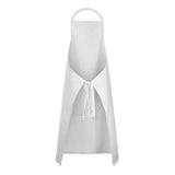 CHEFS CRAFT FULL BIB APRON WITH POCKET WHITE