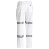 BISLEY 3M TAPED COTTON DRILL WORK PANTS WHITE