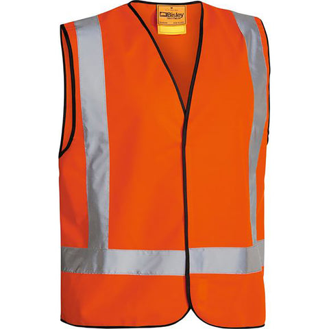 BISLEY X TAPED HI VIS VEST ORANGE