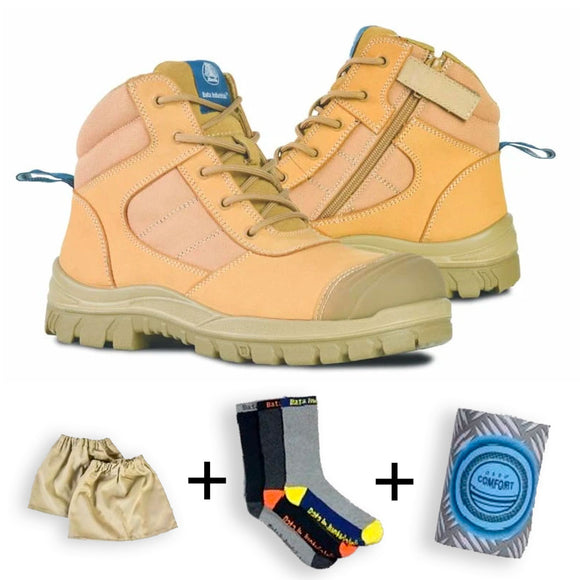 BATA DAKOTA LADIES BOOT WHEAT WITH TRADIES KIT
