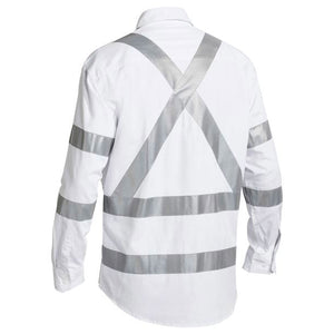 BISLEY TAPED NIGHT COTTON DRILL SHIRT WHITE