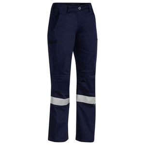 BISLEY INDUSTRIAL ENGINEERED WOMENS DRILL PANTS NAVY