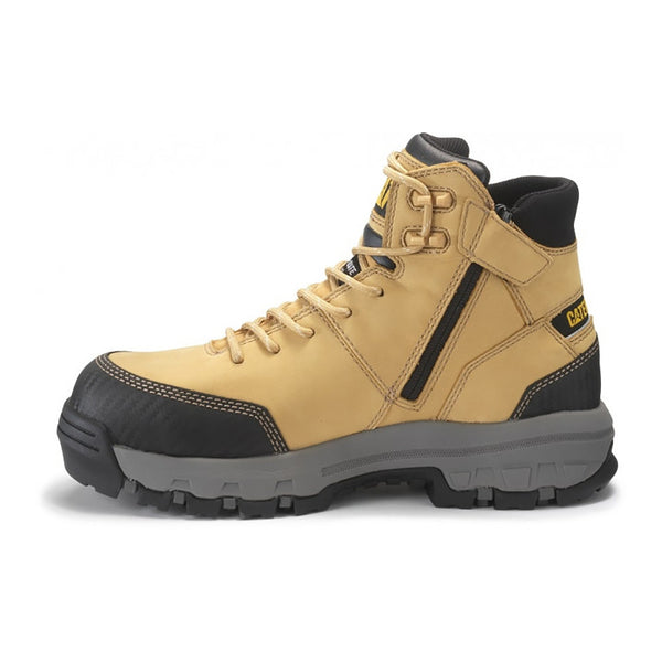 CAT DEVICE ZIP WATERPROOF CT BOOT HONEY