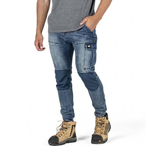 CAT DYNAMIC DENIM PANT LIGHT ACID WASH