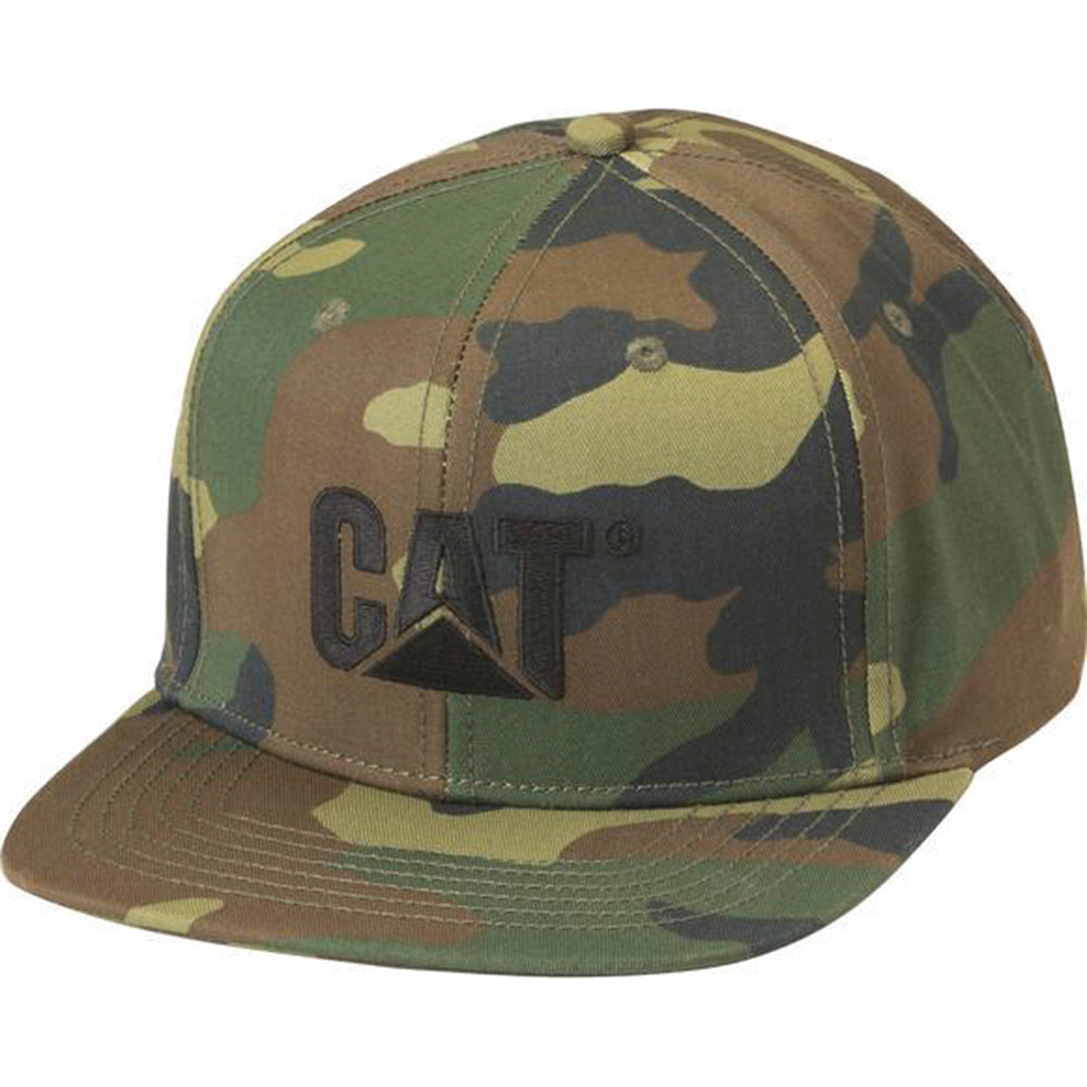 CAT SHERIDAN FLAT BILL CAP WOODLAND CAMO