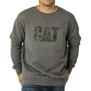 CAT TRADEMARK LOGO CREW GREY