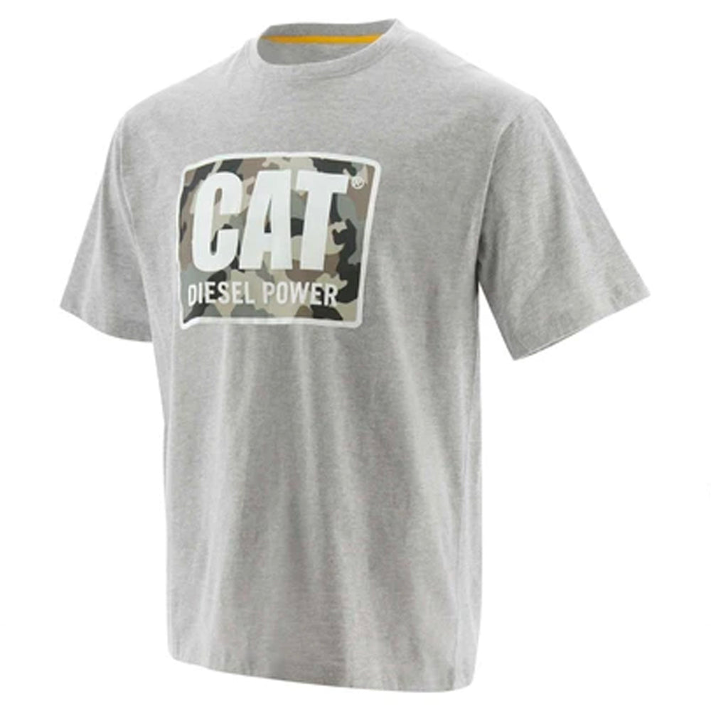 CAT DIESEL POWER TEE HEATHER GREY