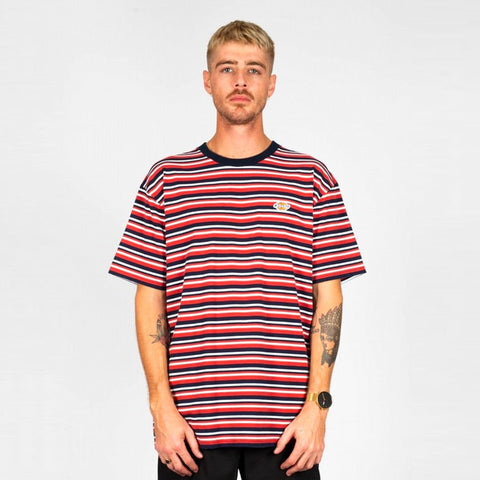 DICKIES OZONA NAVY/RUST CLASSIC FIT SS TEE