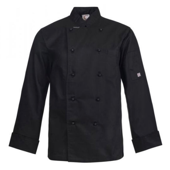 CHEFS CRAFT EXECUTIVE L/S JACKET LIGHT BLACK