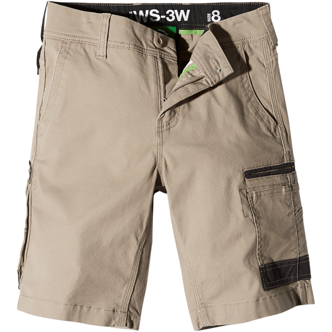 FXD WS-3W WOMENS WORK SHORTS KHAKI