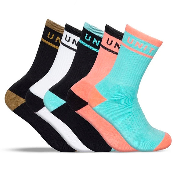UNIT HI-LUX STAPLE WOMENS SOCKS 5PK MULTI