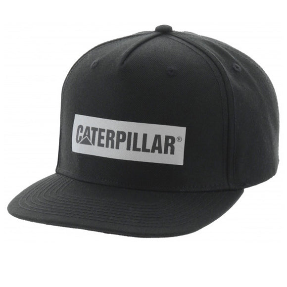 CAT ICON BAR FLAT BILL CAP BLACK