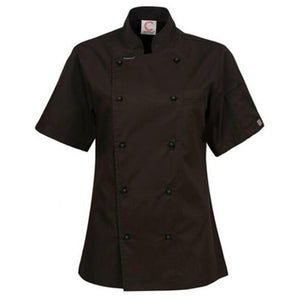 CHEFS CRAFT LADIES EXECUTIVE CHEF S/S JACKET BLACK