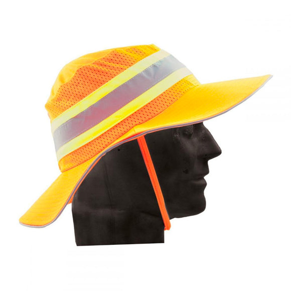 ORANGE HAT TOGGLE/ SLIVER TAPE/VENT