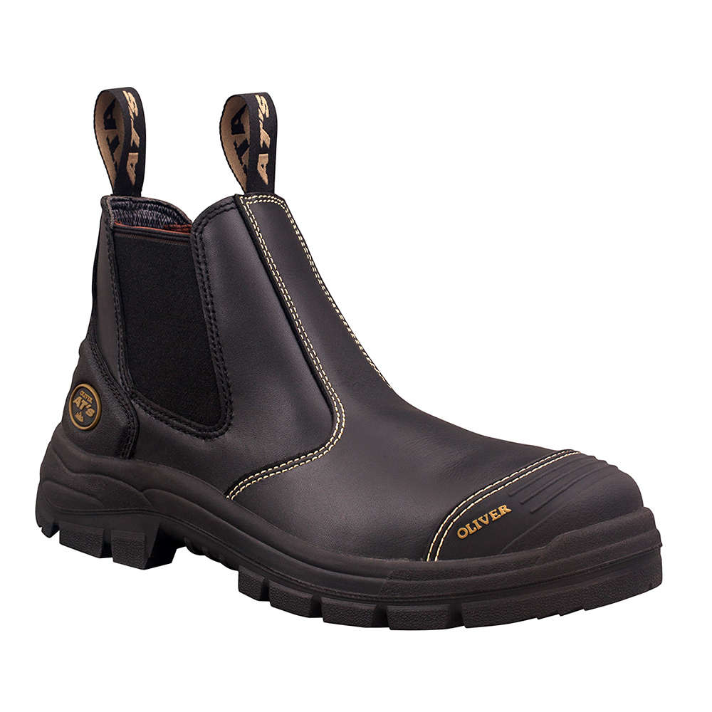 OLIVER 55 SERIES ELASTIC SIDED SCUFF CAP BOOT BLACK