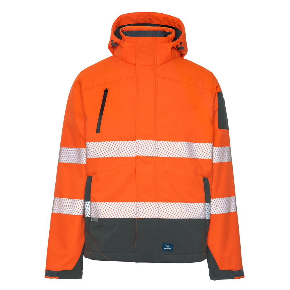 RAINBIRD JONES SOFTSHELL COAT ORANGE/CHARCOAL