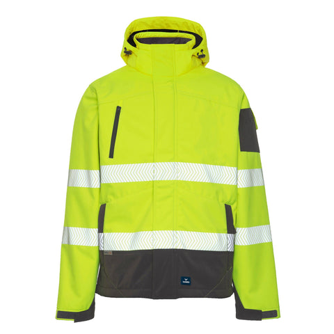 RAINBIRD JONES SOFTSHELL COAT YELLOW/CHARCOAL