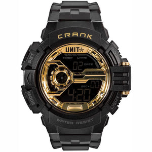 UNIT CRANK WATCH BLACK/GOLD
