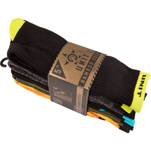 UNIT QUANTUM SOCKS 5 PACK MULTI