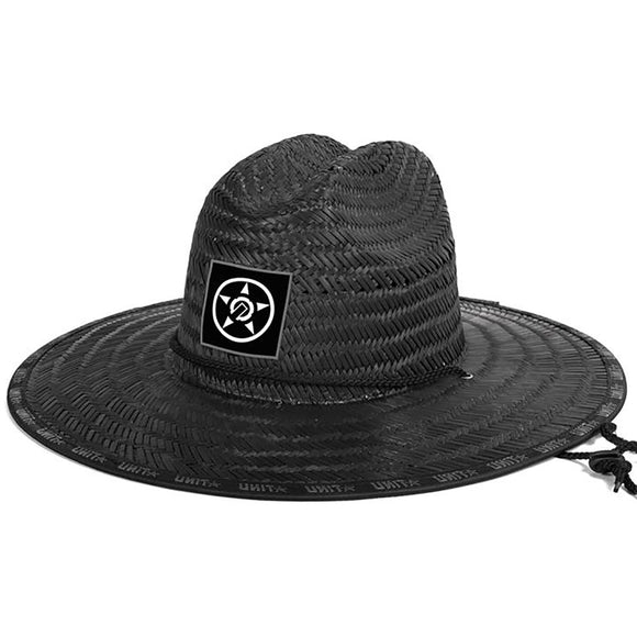 UNIT TRICE STRAW HAT BLACK