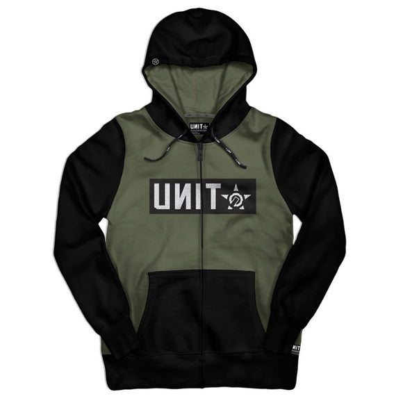 UNIT MENS FLEECE HOODIE SHELTER MILITARY