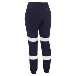 BISLEY WOMENS TAPED BIOMOTION CARGO PANTS CUFFED NAVY